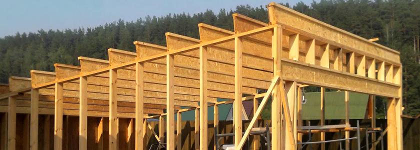Деревянные балки на перекрытия для большого пролета