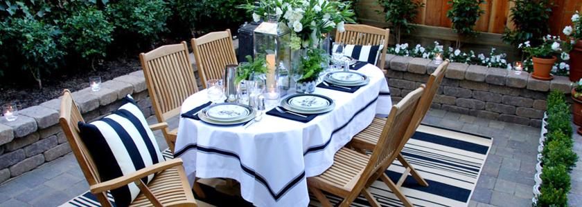 Идеи для обеденного стола в саду