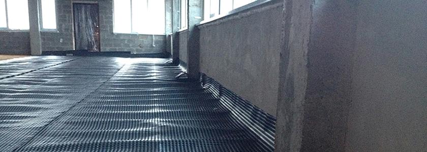 Система плитного фундамента для частного дома с применением мембран PLANTER от ТехноНИКОЛЬ