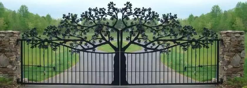 Ажурный металлический забор от участника FORUMHOUSE