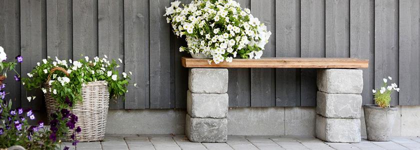 Поделки из шлакоблоков – оформляем двор и интерьер