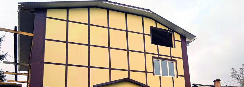 Фасад из плоского шифера – о материале, плюсы и минусы технологии, опыт умельцев портала