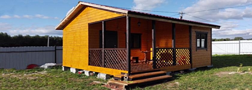 Недорогой дачный домик 6×6 своими руками