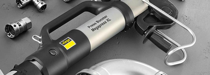 Быстрое и безопасное соединение труб: особенности нового пресс-бустера Pressgun от Viega