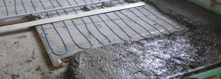 Технология устройства пескобетонной стяжки теплого пола с греющим кабелем