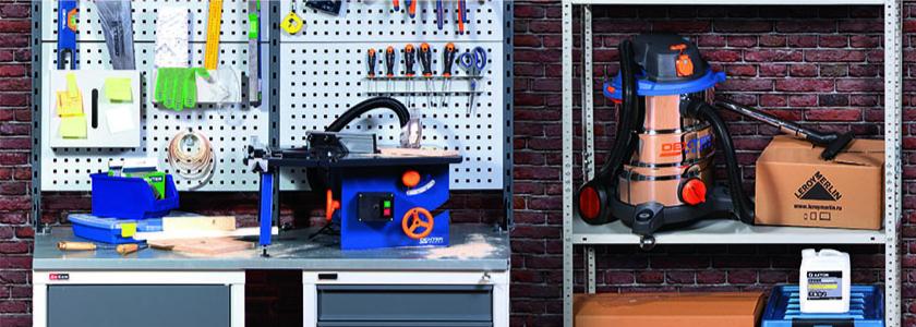 «Леруа Мерлен» представляет инструмент и средства хранения для любительской мастерской