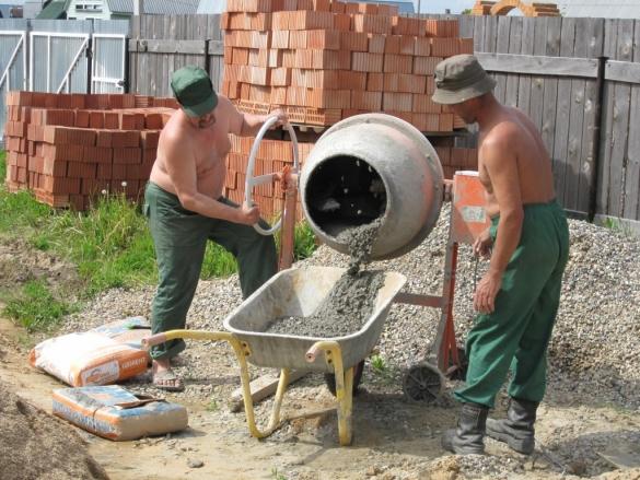 Бетон комками как замешать цементный раствор для штукатурки
