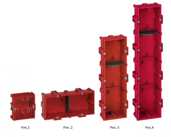 Фото подрозетники для сплошных стен: одинарный, двойной, тройной, на четыре устройства