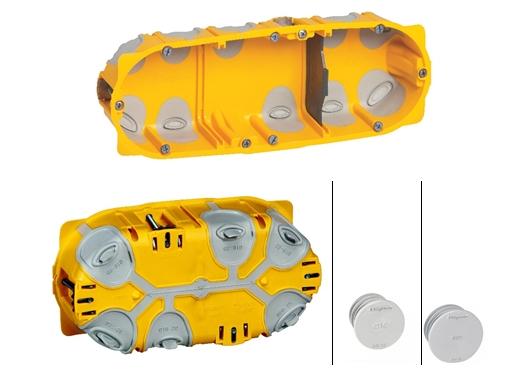 Фото герметичный подрозетник на три устройства