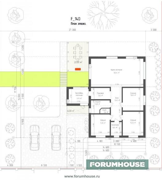 Фото планировка участка с домом и ландшафтом