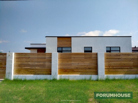 Фото забор и дом