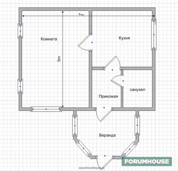 Фото планировки компактного дома