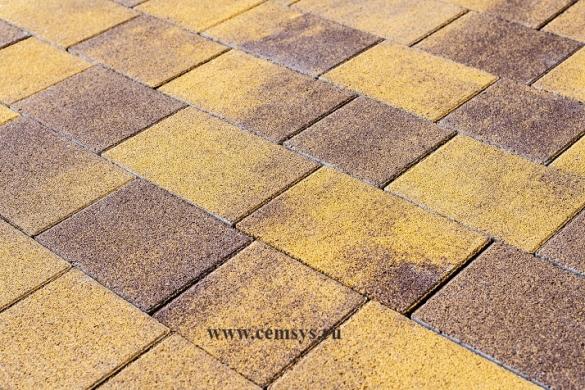 Фото яркая вибропрессованная тротуарная плитка