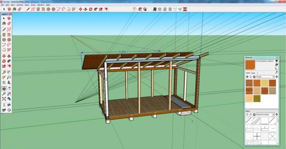Фото эскиз простой крыши в графическом редакторе
