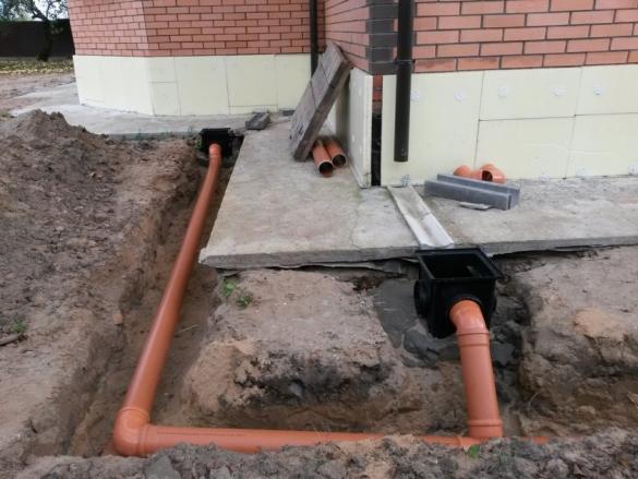 Фото водосточная система и трубы ливневой канализации