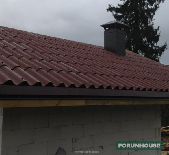 Фото крыша с шифером римский профиль