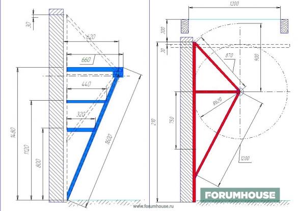Фото чертеж механизма подъемных ворот