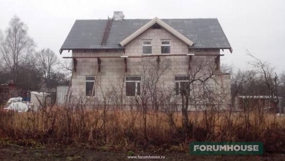 Фото двухэтажный дом из газобетона с фаской