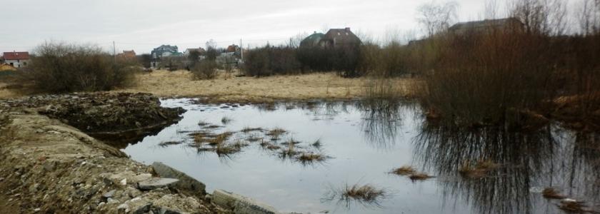 Дом из газобетона на болоте