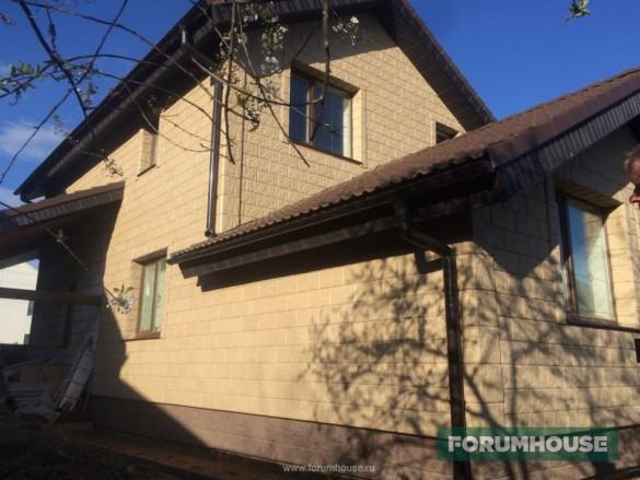 Фото бетонная плитка на фасаде