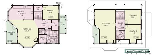 Фото планировка первого и мансардного этажа