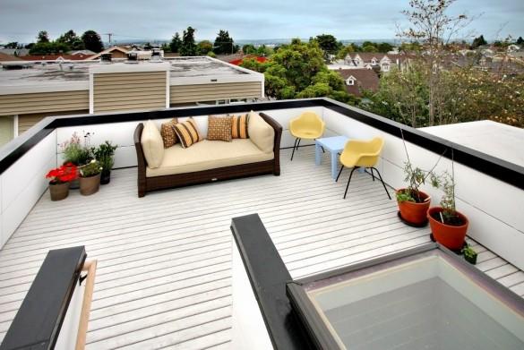Фото плоская эксплуатируемая крыша