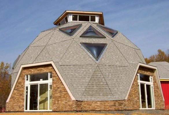 Фото купольная крыша круглого дома