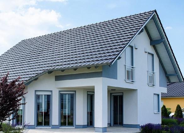Фото крыша с длинным несимметричным свесом