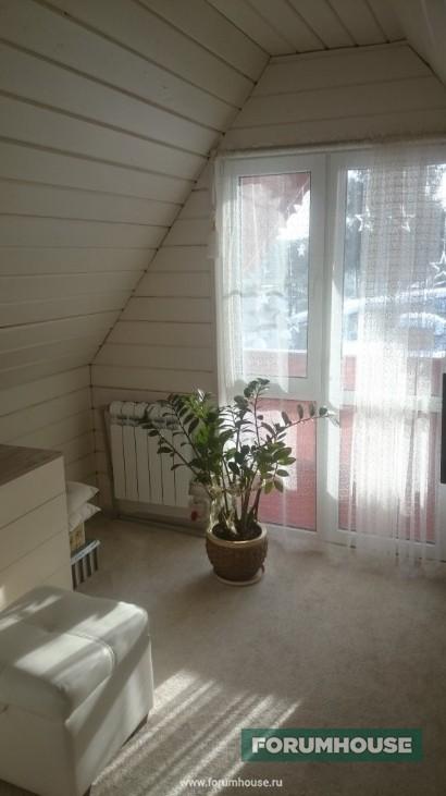 Фото интерьер мансарды, переделанной из холодного чердака