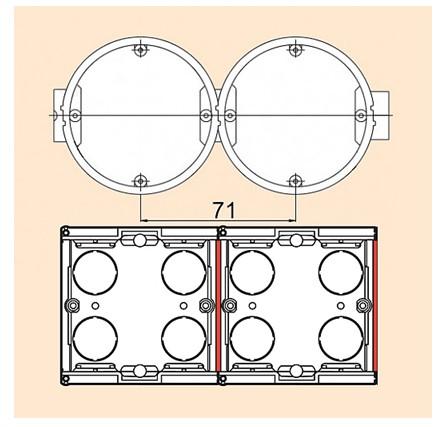 Фото сравнение круглых и квадратных подрозетников