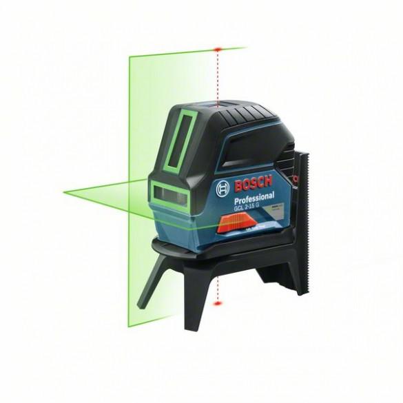 Фото комбинированный лазерный нивелир с зеленым лучом