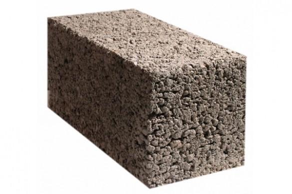 Полнотелый керамзитовый блок