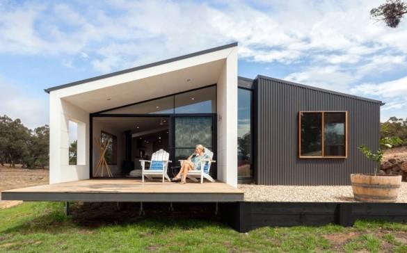 Фото одноэтажный модульный дом