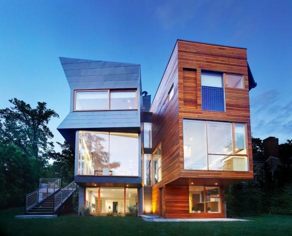 Фото большой модульный дом из блок-контейнеров