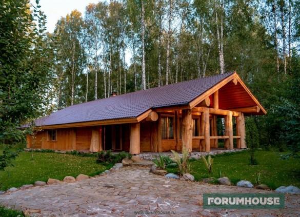 Фото ральный дом форумчанина, построенный по технологии Пост энд Бим