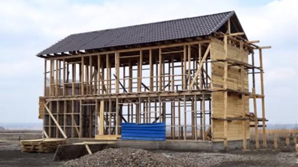 Фото каркасный дом, построенный с нарушениями
