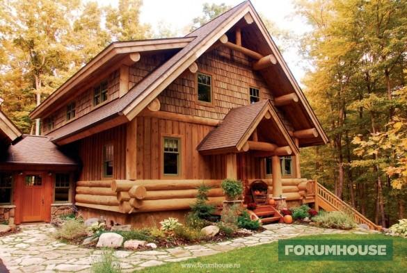 Фото красивый дом пост энд бим с заполнением вертикальной доской с нащельниками