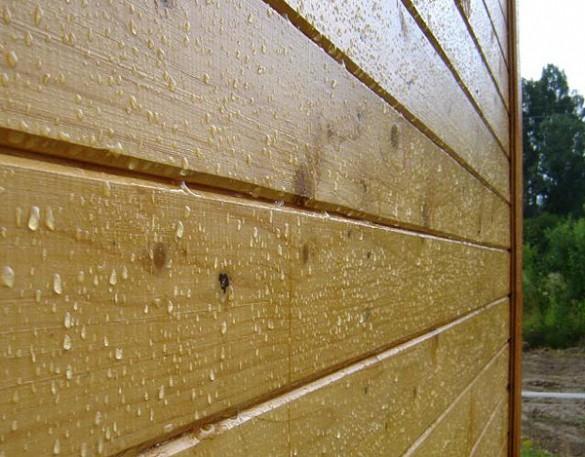 Фото деревянная стена покрытая водоотталкивающим маслом