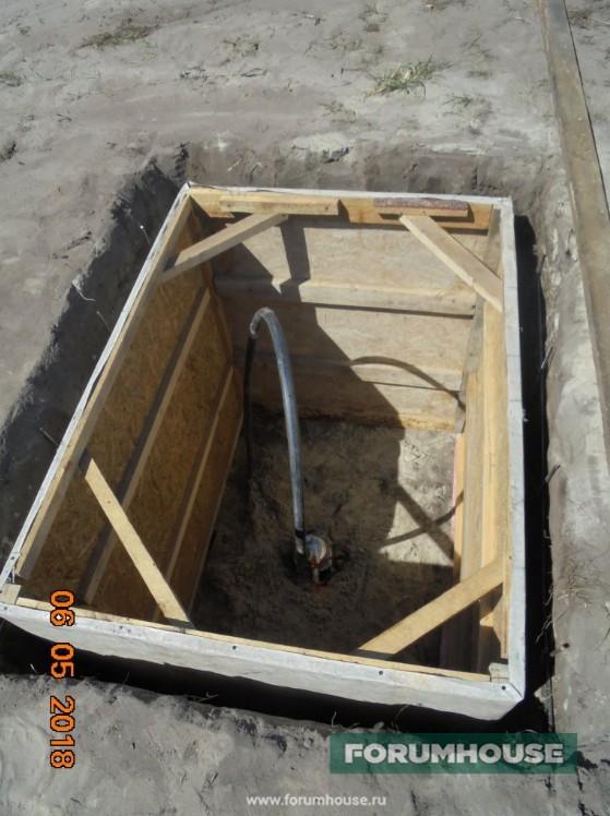 Фото опалубка под заливку погреба рядом с домом