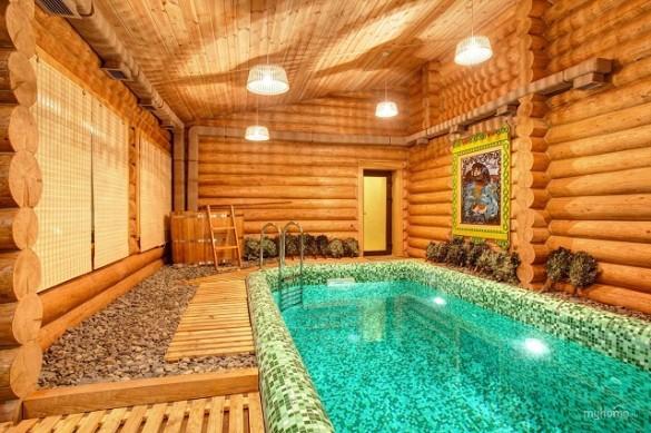 Фото купель-бассейн в бане