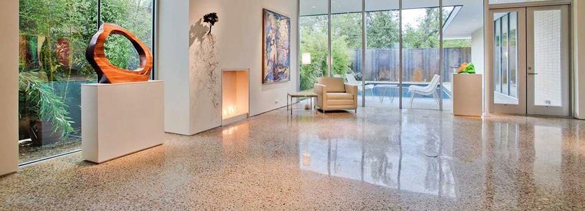 Шлифованный бетон – красота, практичность, долговечность
