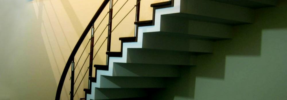 Монолитная лестница двойной каркас от умельца портала