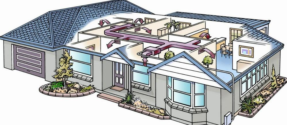 Воздушное отопление частного дома. Аргументы «за» и «против»