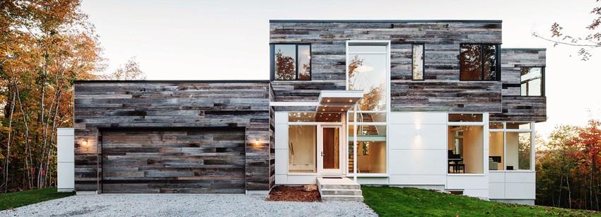 Необычные решения для отделки фасада