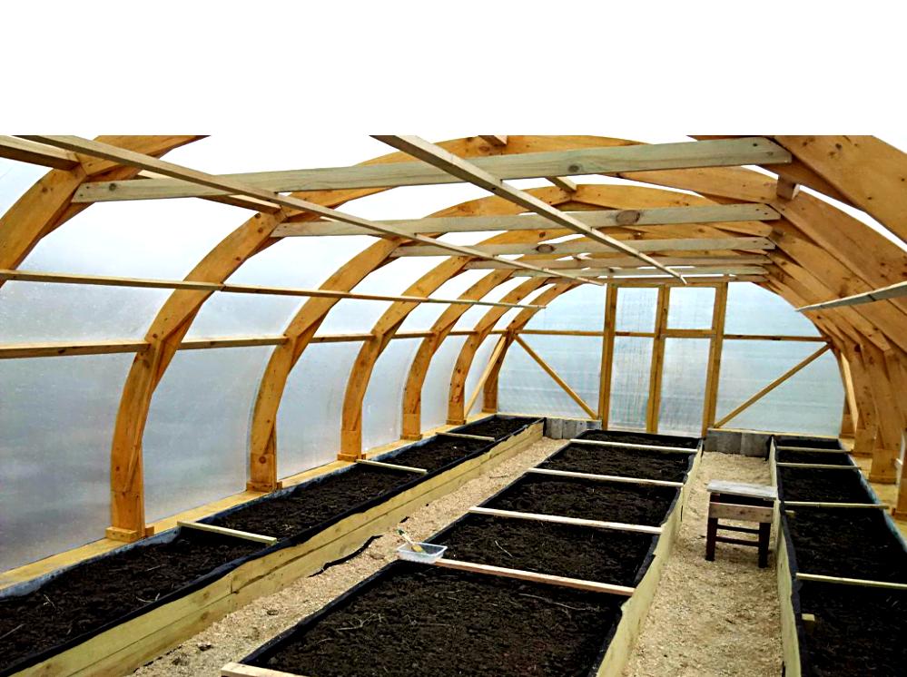 Арочные деревянные теплицы – опыт участников портала