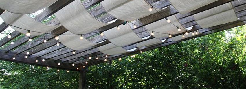 Интересная крыша для беседки-перголы
