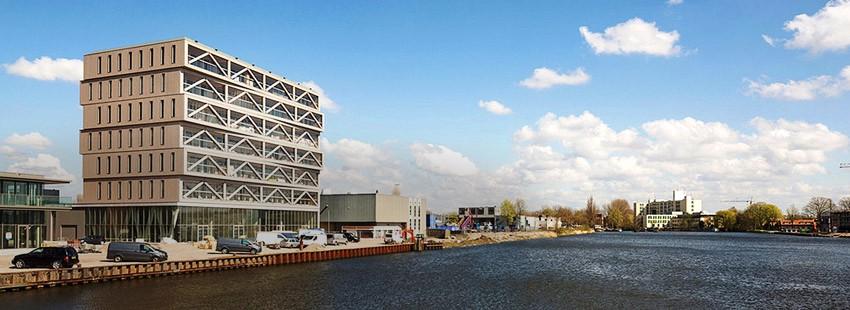 Многоэтажное здание по каркасной технологии