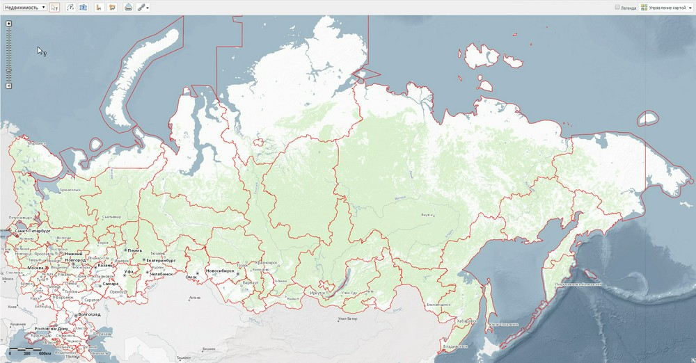 Публичная кадастровая карта России была обновлена