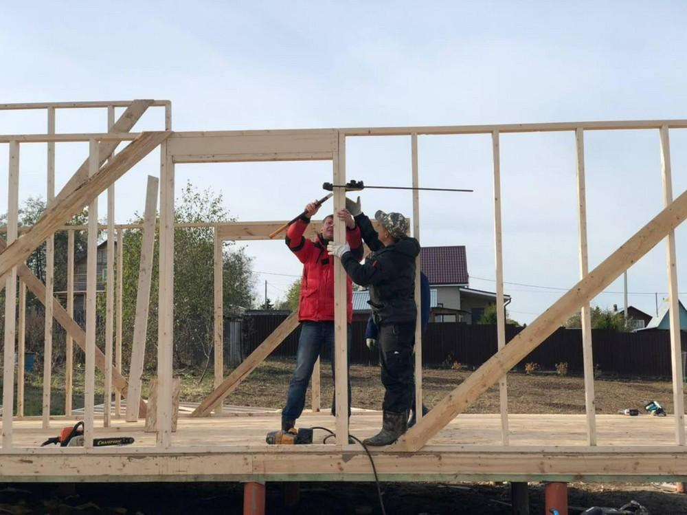 Сборка каркаса: строим дом за 3 недели