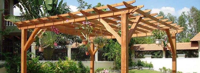 Садовые ширмы, экраны, перголы: интересные решения и варианты применения